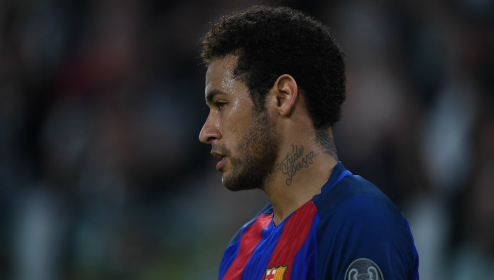 Neymar, con el Barça