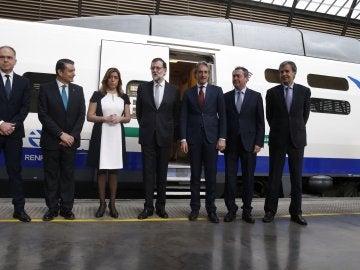 Rajoy conmemora los 25 años del AVE
