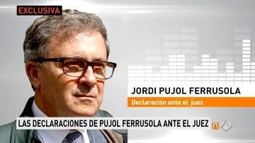 Declaraciones de Pujol Ferrusola ante el juez
