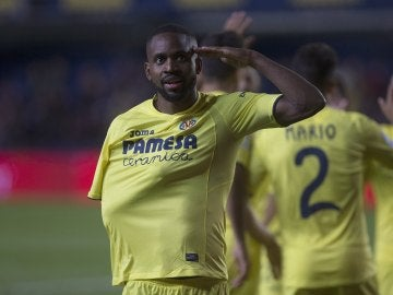 Bakambú, en el partido contra el Sporting