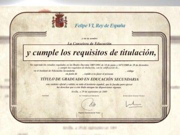 """Frame 13.89777 de: Los alumnos tendrán que """"cumplir los requisitos"""" para obtener el título de la ESO"""