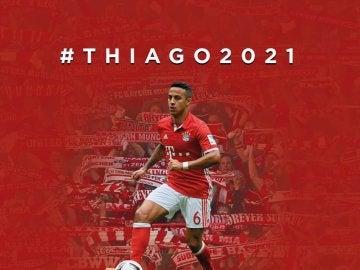 Thiago, del Bayern hasta 2021