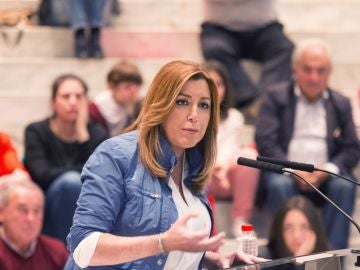 Susana Díaz, la presidenta andaluza y candidata a las primarias del PSOE