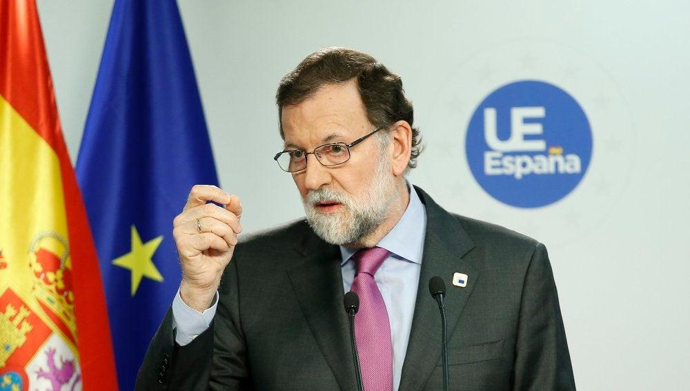 Mariano Rajoy, desde Bruselas