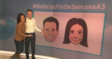 Matías Prats y Mónica Carrillo estrenan emoji en Twitter