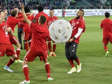 El Bayern de Múnich festeja su Bundesliga
