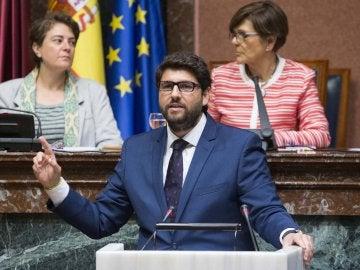 Fernando López Miras durante su intervención