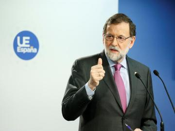 Mariano Rajoy, durante una comparecencia en Bruselas