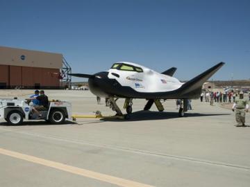 La nave espacial Dream Chaser, que desarrolla la empresa privada estadounidense Sierra Nevada, y con la que Naciones Unidas lanzará en 2021 su primera misión espacial.
