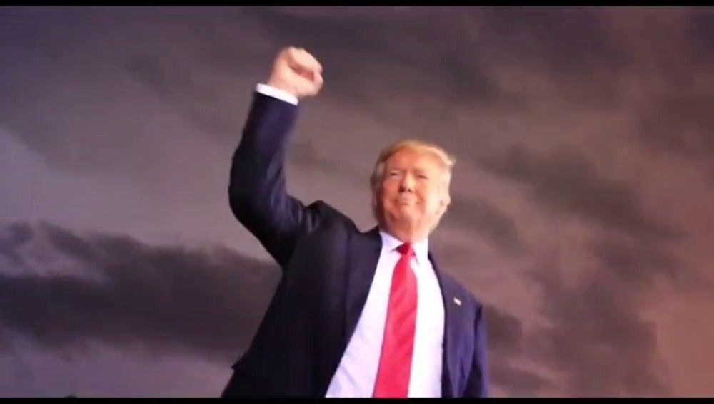 Frame 22.664862 de: El equipo de Trump lanza un vídeo en las redes sociales contando sus logros como presidente