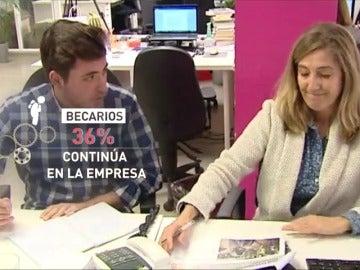 Frame 26.499555 de: La mitad de los 80.000 becarios en España no cobran nada por su trabajo