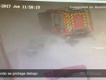 Frame 24.803926 de: Así fue la explosión en la planta de tratamiento de residuos químicos en Arganda del Rey