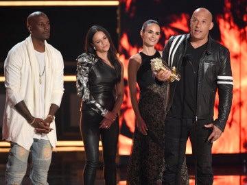 Vin Diesel en la gala de los MTV Movie Awards