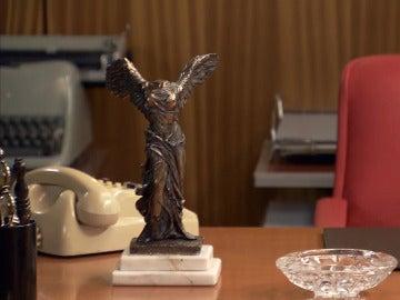 Una escultura de la Victoria de Samotracia, el arma homicida de la muerte de Alonso