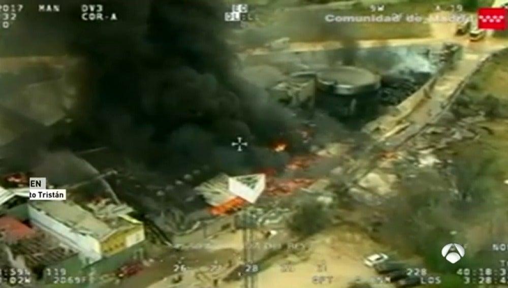 Frame 108.411428 de: Así fue la explosión en la planta de tratamiento de residuos químicos en Arganda del Rey