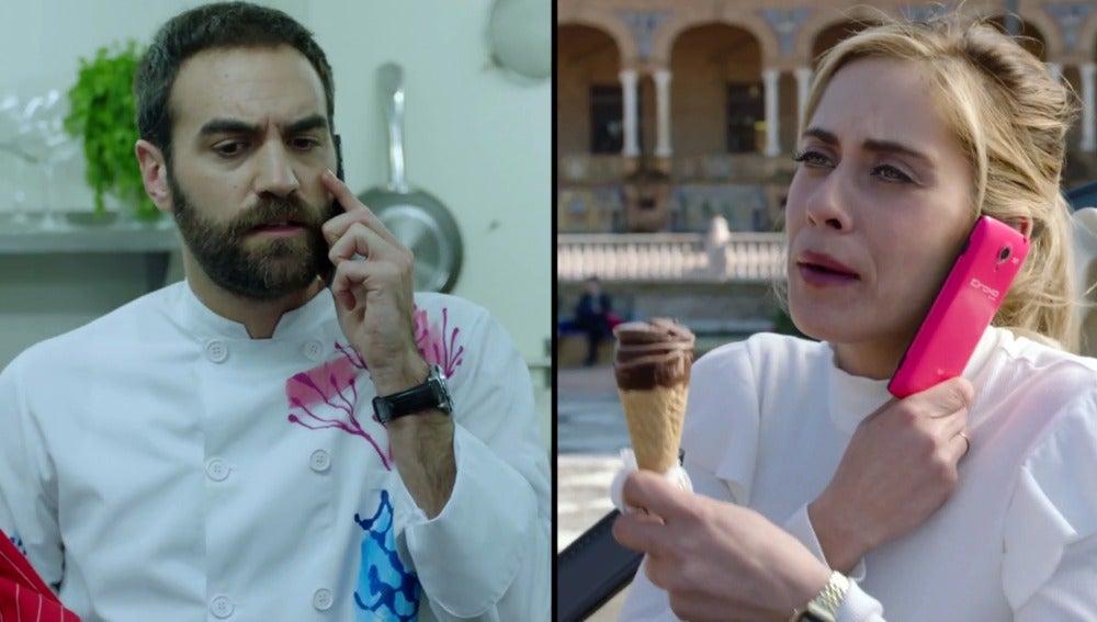 Iñaki se muere de celos al enterarse de los planes de Carmen