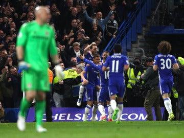 Los jugadores del Chelsea celebran un gol ante el Middlesbrough