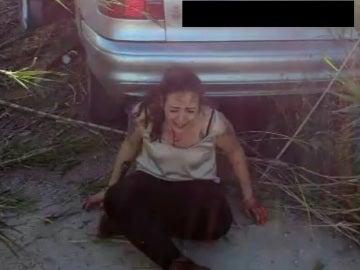 Imagen de la conductora que mató a dos ciclistas tras el atropello en Oliva