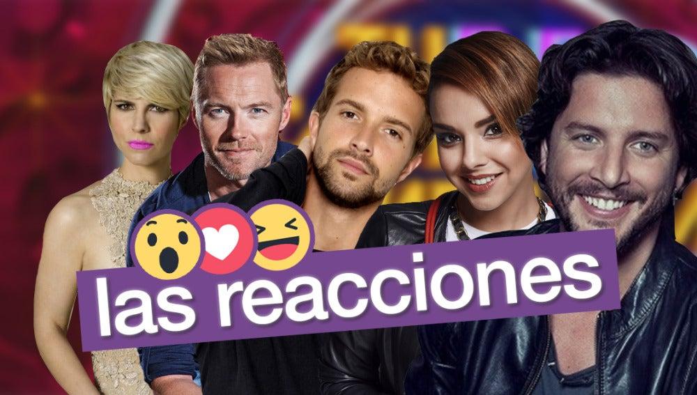 Las sorprendentes reacciones de los artistas famosos antes sus imitadores en 'Tu cara no me suena todavía'