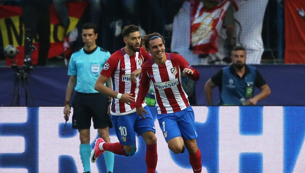 Griezmann celebrando su gol al Madrid