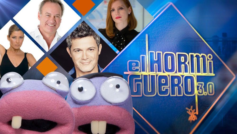 Sara Baras, Bertín Osborne, Alejandro Sanz y Jessica Chastain, invitados de lujo en 'El Hormiguero 3.0'
