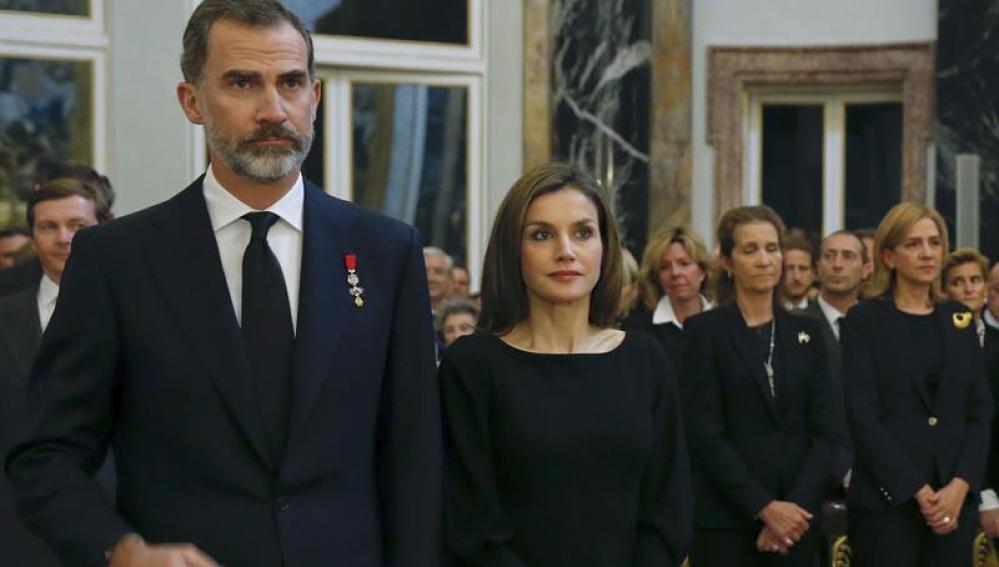 La Infanta Cristina, en un acto en el Palacio Real