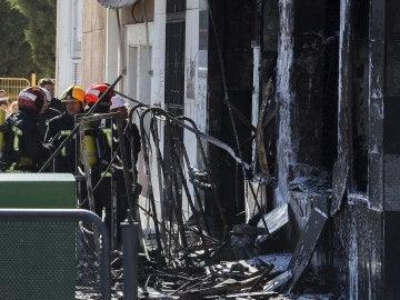 Así quedó el bazar tras el incendio