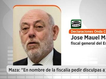 """José Manuel Maza: """"En nombre de la Fiscalía quiero pedir disculpas a Nieto por el fallo que se ha producido"""""""