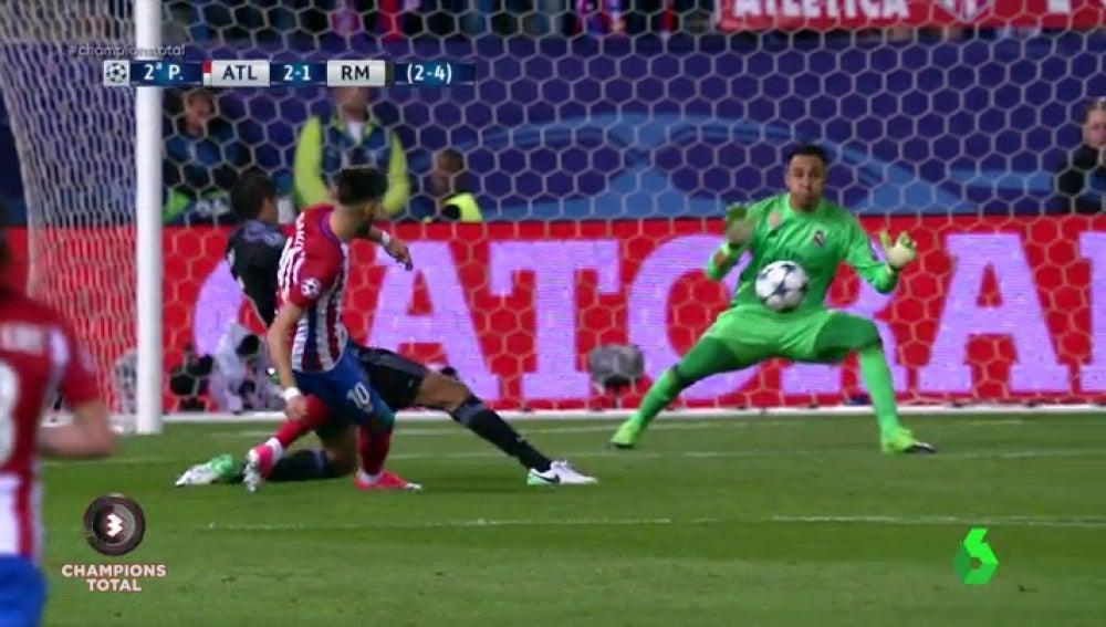 Frame 36.865714 de: Keylor Navas salvó al Real Madrid ante el Atlético con dos paradas para el recuerdo