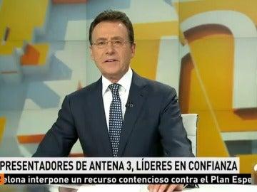 Frame 10.251428 de: Los presentadores de Atresmedia TV copan el ranking de confianza de los espectadores en España