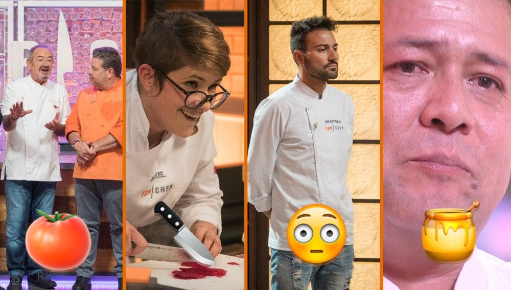 Miembros viriles, caldos de la discordia y refranes, los momentazos de la semifinal de 'Top Chef'