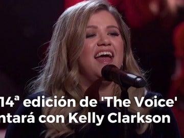 Frame 4.871805 de: Kelly Clarkson se incorpora a 'The Voice' como 'coach'