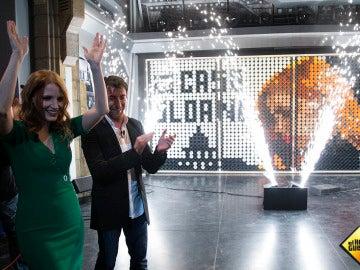 El espectacular arte de 'El Hormiguero' en homenaje a Jessica Chastain