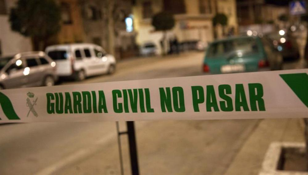 Cordón policial de la Guardia Civil