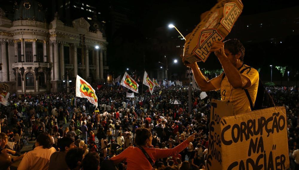 Manifestaciones contra Temer en Brasil
