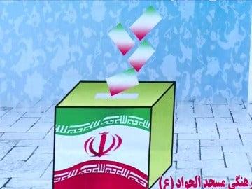 Frame 41.585754 de: Los iraníes comienzan a votar con calma en las presidenciales