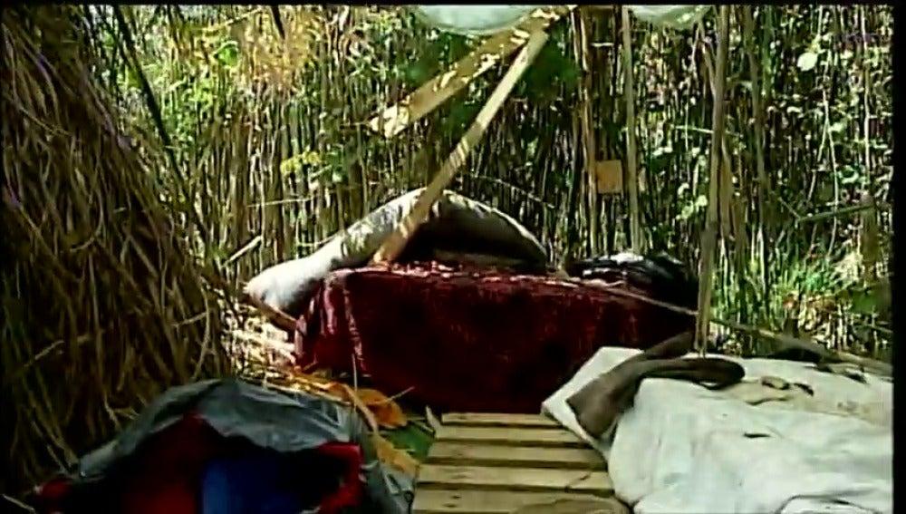 Frame 52.365461 de: Construye un vivac en el bosque para escapar de su padre