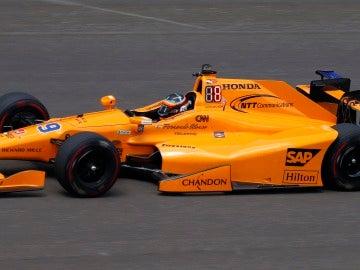 Alonso, en el trazado de Indianápolis