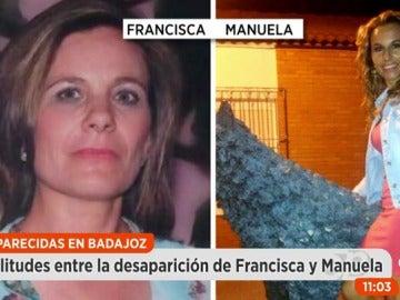 Similitudes en la desaparición de Manuela Chavero y Francisca Cadenas
