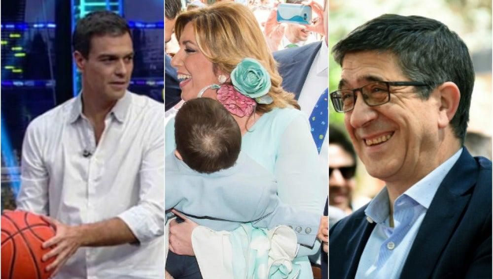 Pedro Sánchez, Susana Díaz y Patxi López en sus facetas más personales