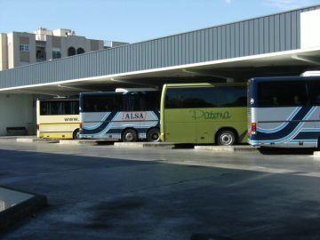 Autobuses en la estación de Murcia
