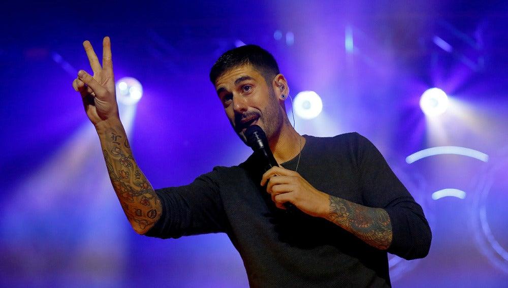 Melendi durante su concierto en Madrid