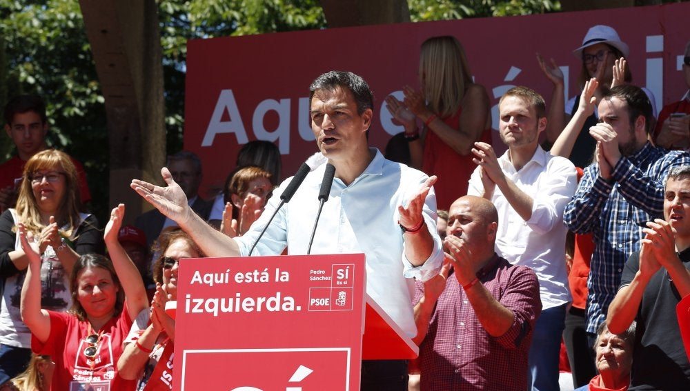 Pedro Sánchez, en un acto en Madrid