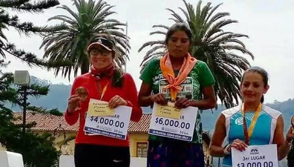 María Lorena Ramírez, ganadora de la ultramaratón Cerro Rojo de Puebla