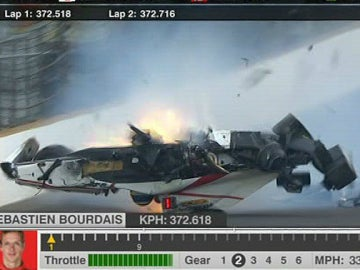 El brutal accidente de Bourdais