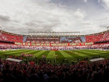 Mosaico en el Vicente Calderón