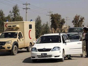 Oficiales de seguridad afganos