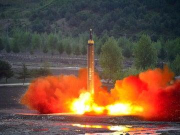 Lanzamiento de un misil por parte de Corea del Norte (Archivo)