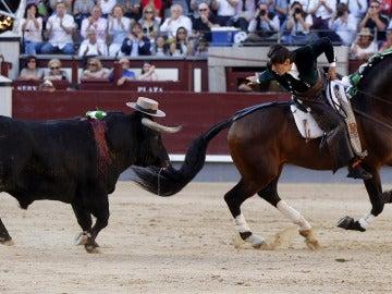 El rejoneador Diego Ventura ante su primer toro