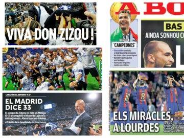 Las portadas de los medios internacionales tras la victoria del Real Madrid en la Liga